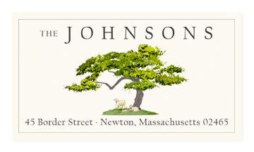 Green Peace - Panoramic Return Address Labels
