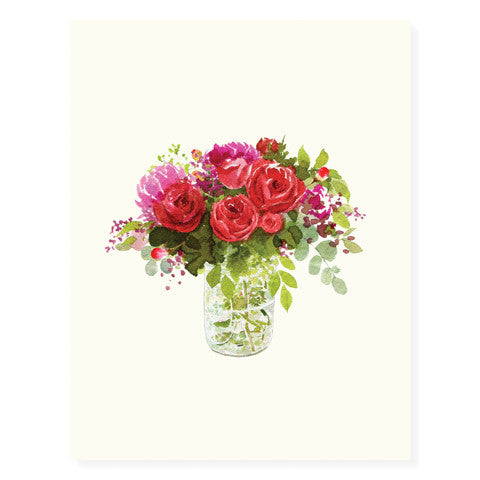 Red Bouquet - Occasion Card