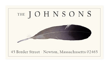 Bald Eagle Feather - Panoramic Return Address Labels