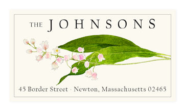 Blush Lily - Panoramic Return Address Labels