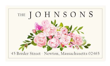 Blushing Roses - Panoramic Return Address Labels