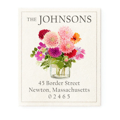 Autumn Dahlias - Return Address Labels