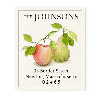 Apple and Pear - Return Address Labels