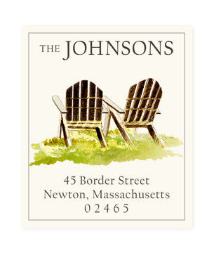 Adirondack Chair - Return Address Labels