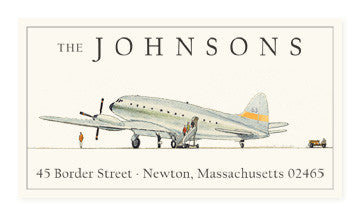 Air Travel - Panoramic Return Address Labels