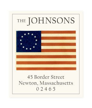 Betsy's Flag - Return Address Labels