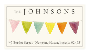 Bunting - Panoramic Return Address Labels