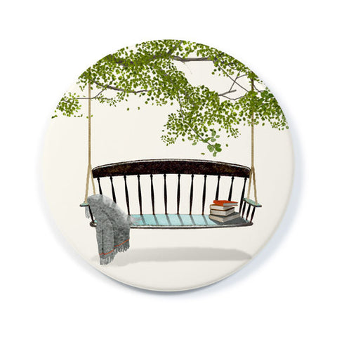 Swinging Bench - Pocket Mirror