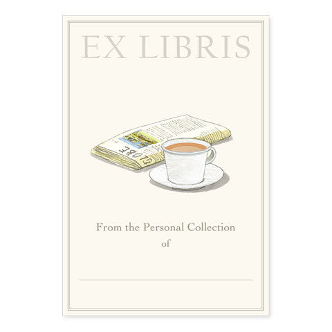 News and Coffee - Large Bookplates