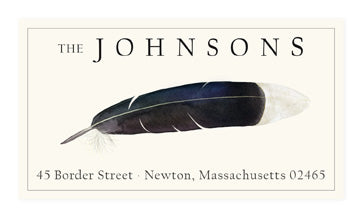 White-tipped Feather - Panoramic Return Address Labels