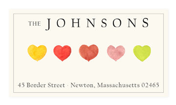 Heartfelt - Panoramic Return Address Labels