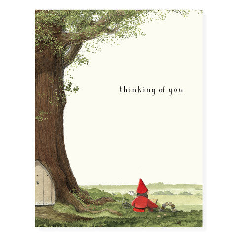 Gnome by the Tree - Occasion Card