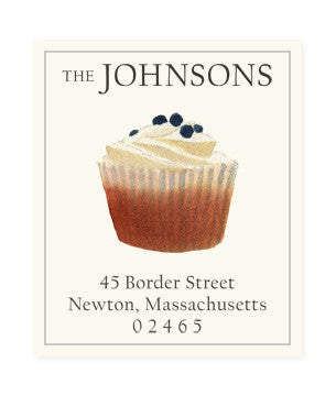 Cupcake - Return Address Labels