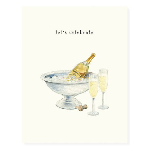 Champagne and Flutes - Occasion Card