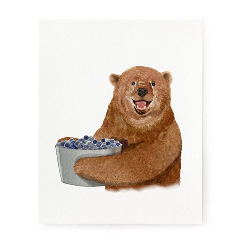 Berry Bear - Art Prints