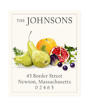 Festive Fruit - Return Address Labels