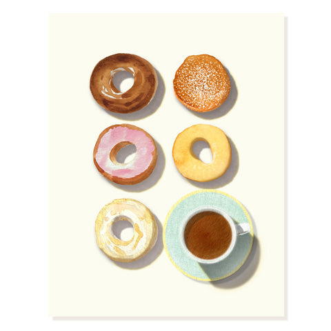 Doughnuts and Coffee - Occasion Card
