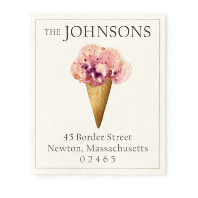 Blackberry Ice Cream - Return Address Labels
