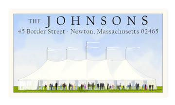 Tent Party - Panoramic Return Address Labels