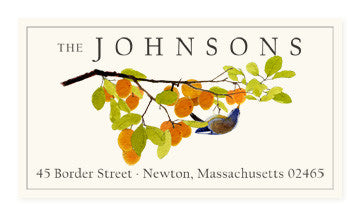 Apricot Branch - Panoramic Return Address Labels