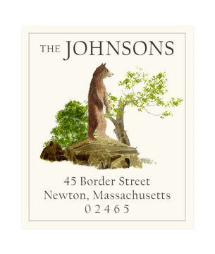 Bear Rock - Return Address Labels