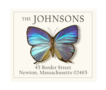 Blue Morpho - Return Address Labels
