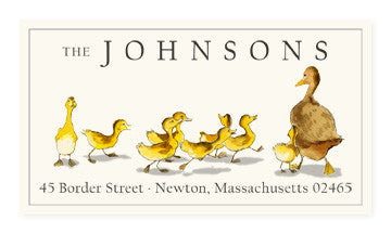 Ducklings - Panoramic Return Address Labels