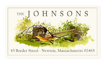 Fox and Fence - Panoramic Return Address Labels
