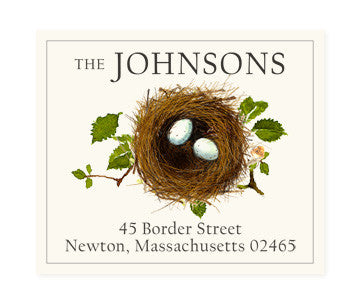 Matching Eggs - Return Address Labels
