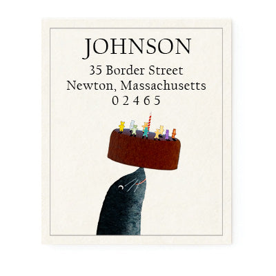 A Balanced Birthday Return Address Labels