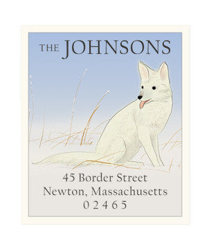 Snow Fox - Return Address Labels