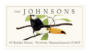 Toucan - Panoramic Return Address Labels
