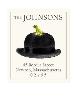 Gentleman Frog - Return Address Labels