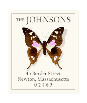 Le Papillon - Return Address Labels