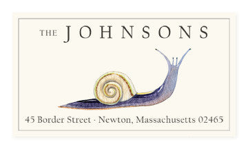 Purple Snail - Panoramic Return Address Labels