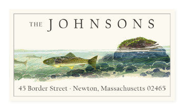 Under the Brook - Panoramic Return Address Labels