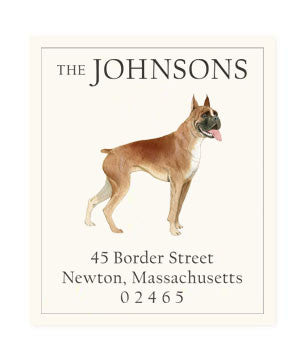 Boxer Bulldog - Return Address Labels