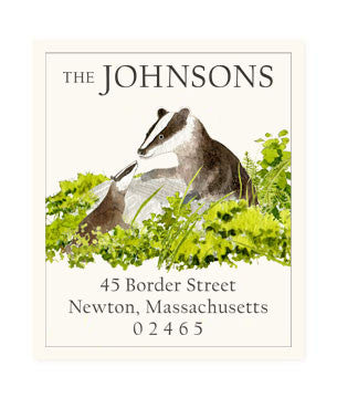 Badger Lesson - Return Address Labels