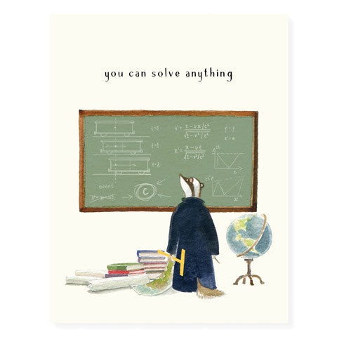 Professor Badger - Occasion Card