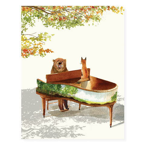 Piano Bear - Occasion Card