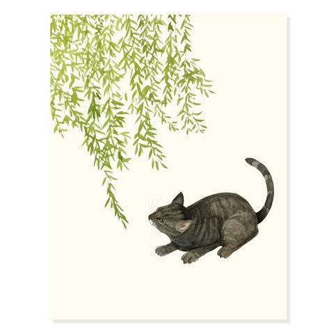 Cat and Grasshopper - Occasion Card