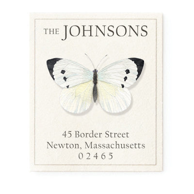 White Butterfly - Return Address Labels