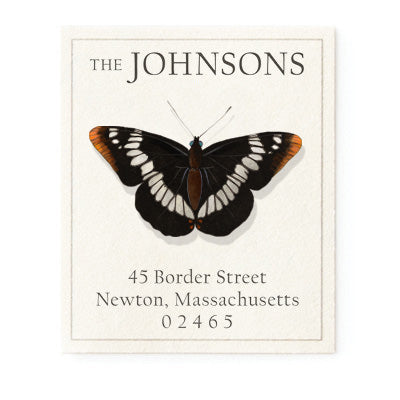Limenitis Lorquini Butterfly - Return Address Labels