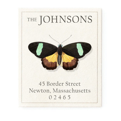 Lepidoptera Butterfly - Return Address Labels