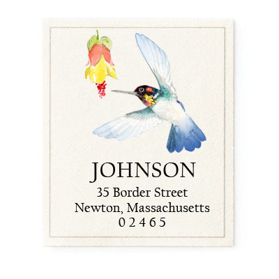 Bee Hummingbird - Return Address Labels