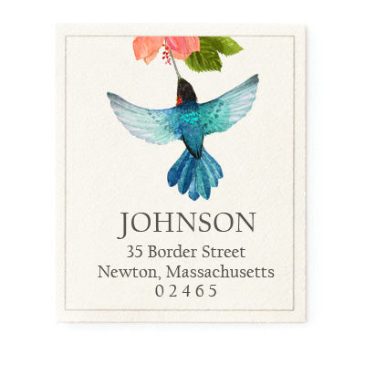 Azure Hummingbird - Return Address Labels