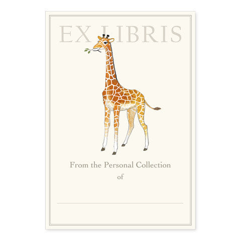 Giraffe Calf - Large Bookplates