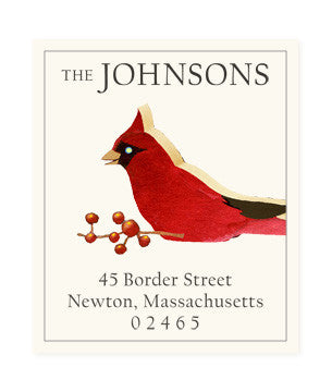 Crafted Cardinal - Return Address Labels