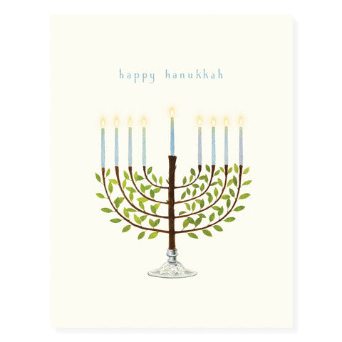 Glowing Menorah - Occasion Card