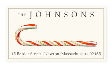 Candy Cane - Panoramic Return Address Labels